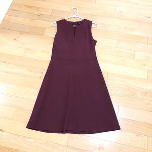 Dark maroon elegant a line dress